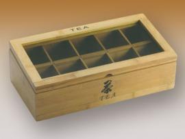 Fa 10 részes tea kínáló