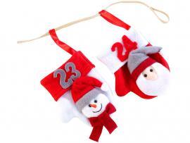 Adventi mikulás-hóember zokni naptár