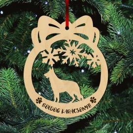Fa karácsonyfadísz – Németjuhász