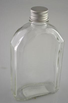 Üvegpalack 0,2l fém tetővel