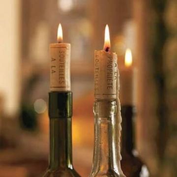 Borosdugó gyertyák a karácsonyi vacsorához