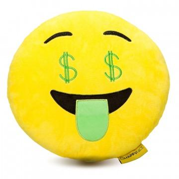 Dollár emoji párna