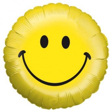 Emoji mosolygós fólia lufi 46 cm-es