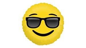 Emoji napszemcsis fólia lufi 46 cm-es