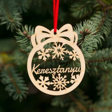 Fa karácsonyfadísz – Keresztanyu