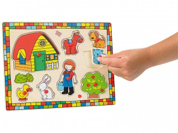 Farm fa puzzle 8 részes gyerekeknek