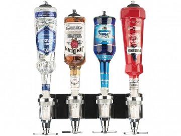 Fali mixerállvány – 4 üveges