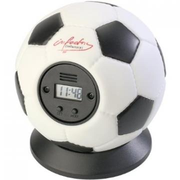 Falhoz vágható focilabda ébresztőóra