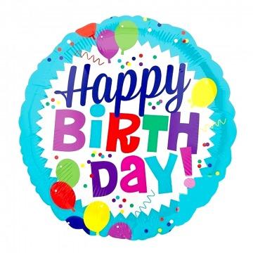 Happy Birthday fólia lufi