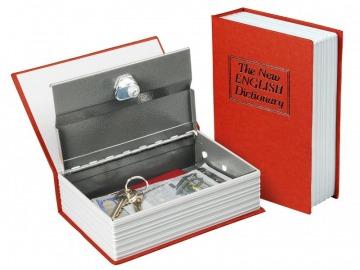 Könyv alakú széf 18cm - piros