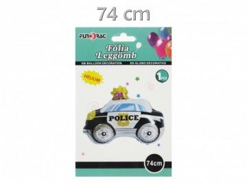 Rendőrautó fólia lufi 74cm