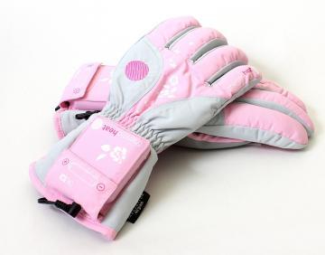 Női fűthető kesztyű - rózsaszín