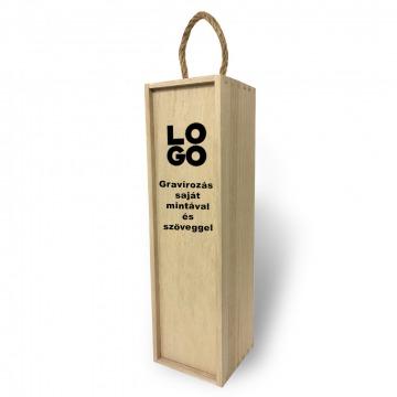 Fa bortartó doboz - Egyedi szöveggel