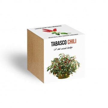 Tabasco chili paprika növényem fa kaspóban