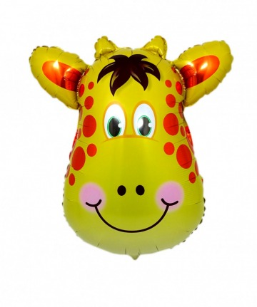 Zsiráf fej fólia lufi héliumhoz