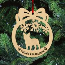 Fa karácsonyfadísz – Francia Bulldog