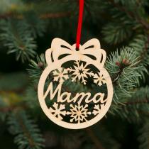 Fa karácsonyfadísz – Mama