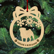 Fa karácsonyfadísz – Mopsz