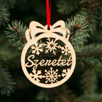 Fa karácsonyfadísz – Szeretet