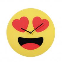 Smiley üveg falióra - szerelmes