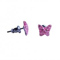 Swarovski lepke köves bedugós fülbevaló - hamvas rózsaszín