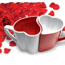 Szerelem duplaszív csészék