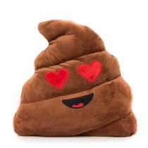 Szerelmes Kaki Emoji Párna