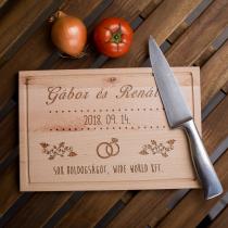 Esküvői vágódeszka - kicsi