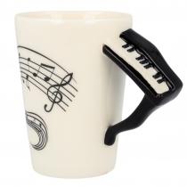Zenész zongora bögre